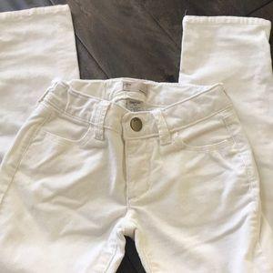 GapKids Girls off white corduroy skinny jeans
